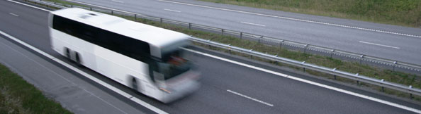 Coach on the motorway