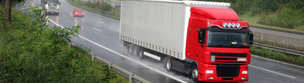 Red Truck On Motorway